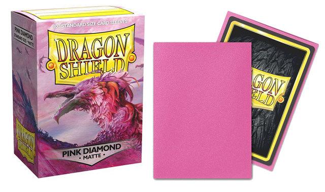 Dragon Shield Box of 100 Matte Pink Diamond  11039