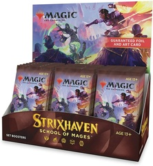 Prerelease Strixhaven: School of Mages - Set Booster Display with BAB Promo
