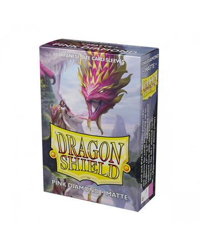 Dragon Shield Japanese-Sized Matte 60ct - Pink Diamond