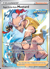 Rapid Strike Style Mustard - 162/163 - Full Art Ultra Rare