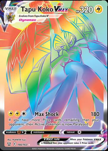 Tapu Koko VMAX - 166/163 - Secret Rare