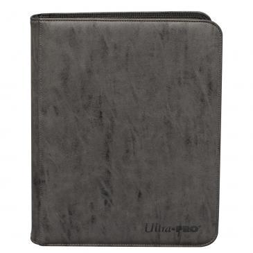 Ultra Pro - Zippered 9-Pocket Premium PRO-Binder - Suede Collection: Jet