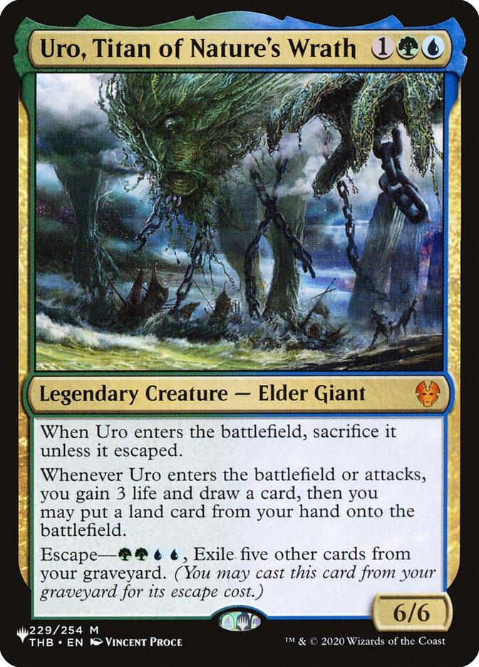 Uro, Titan of Natures Wrath - The List
