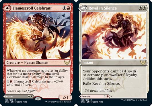 Flamescroll Celebrant // Revel in Silence