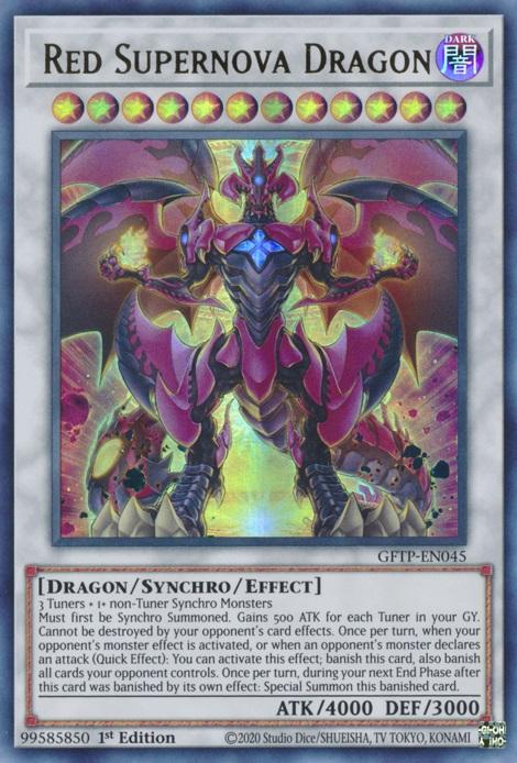 Red Supernova Dragon - GFTP-EN045 - Ultra Rare - 1st Edition
