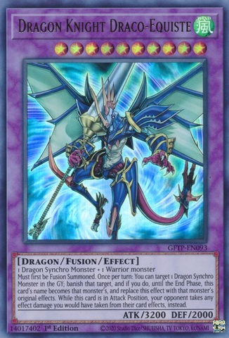 Dragon Knight Draco-Equiste - GFTP-EN093 - Ultra Rare - 1st Edition