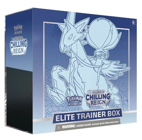 Sword & Shield: Chilling Reign Elite Trainer Box (Ice Rider Calyrex) (Ships by June 15th)
