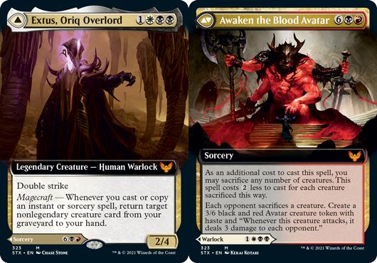 Extus, Oriq Overlord // Awaken the Blood Avatar - Foil - Extended Art