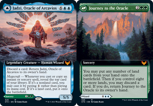 Jadzi, Oracle of Arcavios // Journey to the Oracle - Foil - Extended Art
