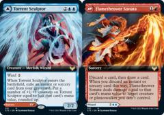 Torrent Sculptor // Flamethrower Sonata - Foil - Extended Art