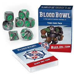 Blood Bowl Black Orc Team Dice Set