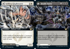Selfless Glyphweaver // Deadly Vanity - Foil - Extended Art