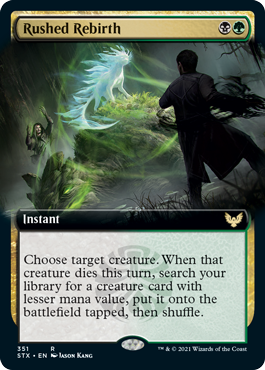 Rushed Rebirth - Foil - Extended Art