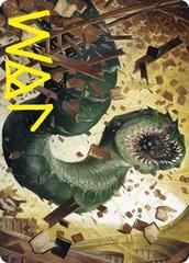 Bookwurm Art Card - Gold-Stamped Signature