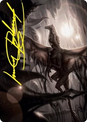 Shadrix Silverquill Art Card - Gold-Stamped Signature