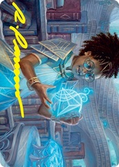 Zimone, Quandrix Prodigy Art Card - Gold-Stamped Signature