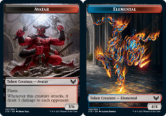 Avatar Token // Elemental Token - Foil (STX)