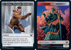 Emblem - Lukka, Wayward Bonder // Spirit Token - Foil