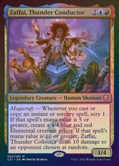 Zaffai, Thunder Conductor - Foil - Display Commander - Thick Stock
