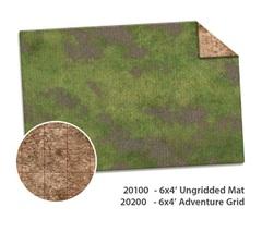 6x4 Adventure Mat - Broken Grassland / Desert Scrubland