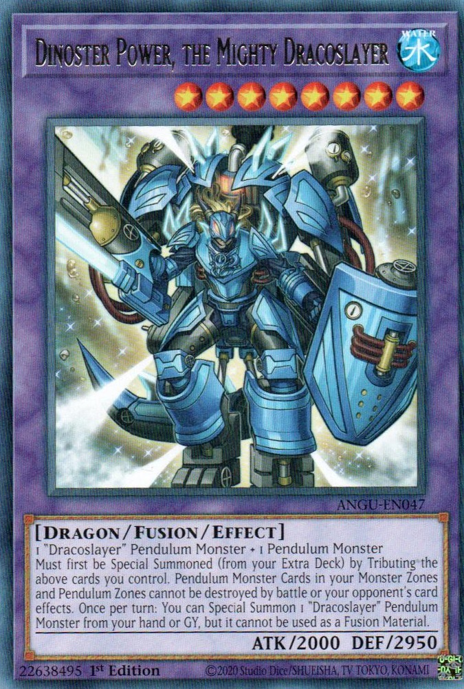 Dinoster Power, the Mighty Dracoslayer - ANGU-EN047 - Rare - 1st Edition