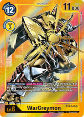 WarGreymon - BT4-048 - SR - Alternative Art