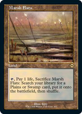 Marsh Flats - Foil - Retro Frame