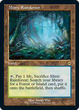 Misty Rainforest - Foil - Retro Frame