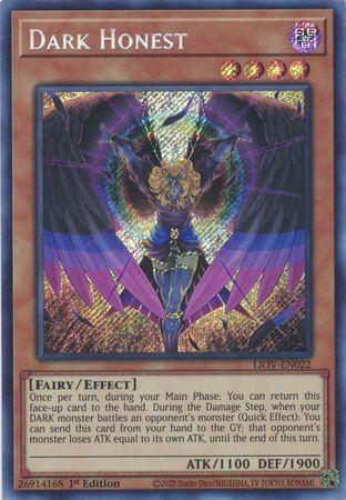 Dark Honest - LIOV-EN022 - Secret Rare - 1st Edition