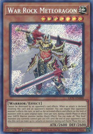 War Rock Meteoragon - LIOV-EN088 - Secret Rare - 1st Edition