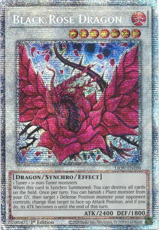 Black Rose Dragon - LIOV-EN100 - Starlight Rare - 1st Edition