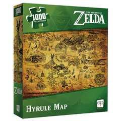 The Legend of Zelda Hyrule Map 1000 Piece Puzzle