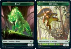 Beast Token // Squirrel Token - Foil