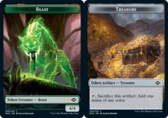 Beast Token // Treasure Token (020) - Foil