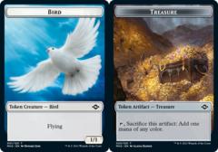 Bird Token // Treasure Token (020) - Foil