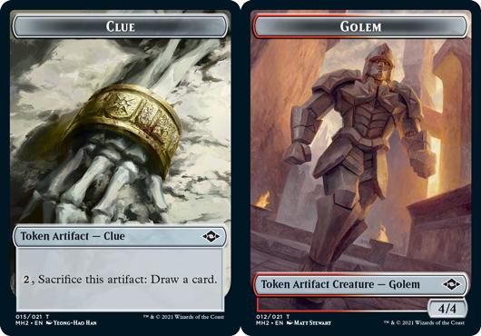 Clue Token (015) // Golem Token - Foil