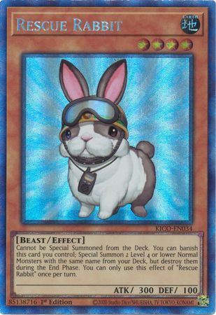 Rescue Rabbit - KICO-EN034 - Collectors Rare - 1st Edition