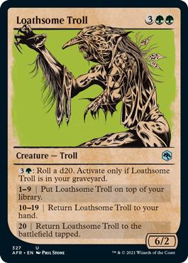 Loathsome Troll - Foil - Showcase