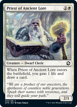 Priest of Ancient Lore - Foil