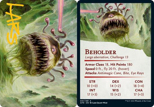 Beholder Art Card -  Gold-Stamped Signature