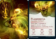 Flameskull  Art Card -  Gold-Stamped Signature