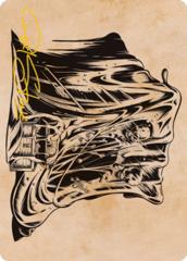 Gelatinous Cube (Showcase) Art Card -  Gold-Stamped Signature