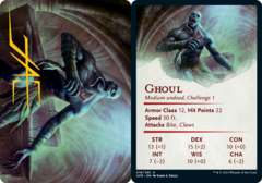 Ghoul Art Card -  Gold-Stamped Signature