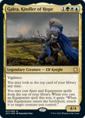 Galea, Kindler of Hope - Foil - Display Commander - Thick Stock