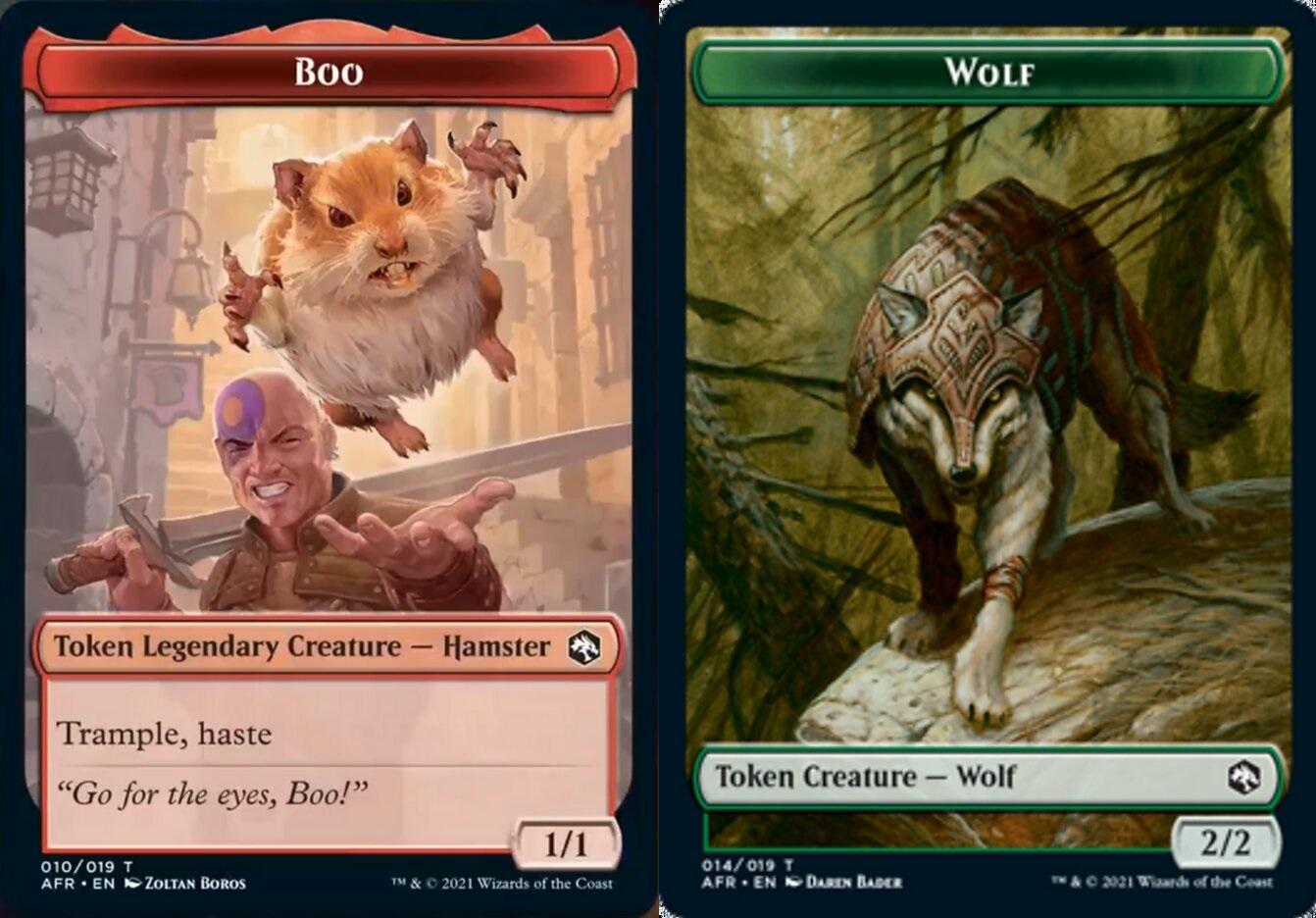 Token - Boo // Wolf - Foil