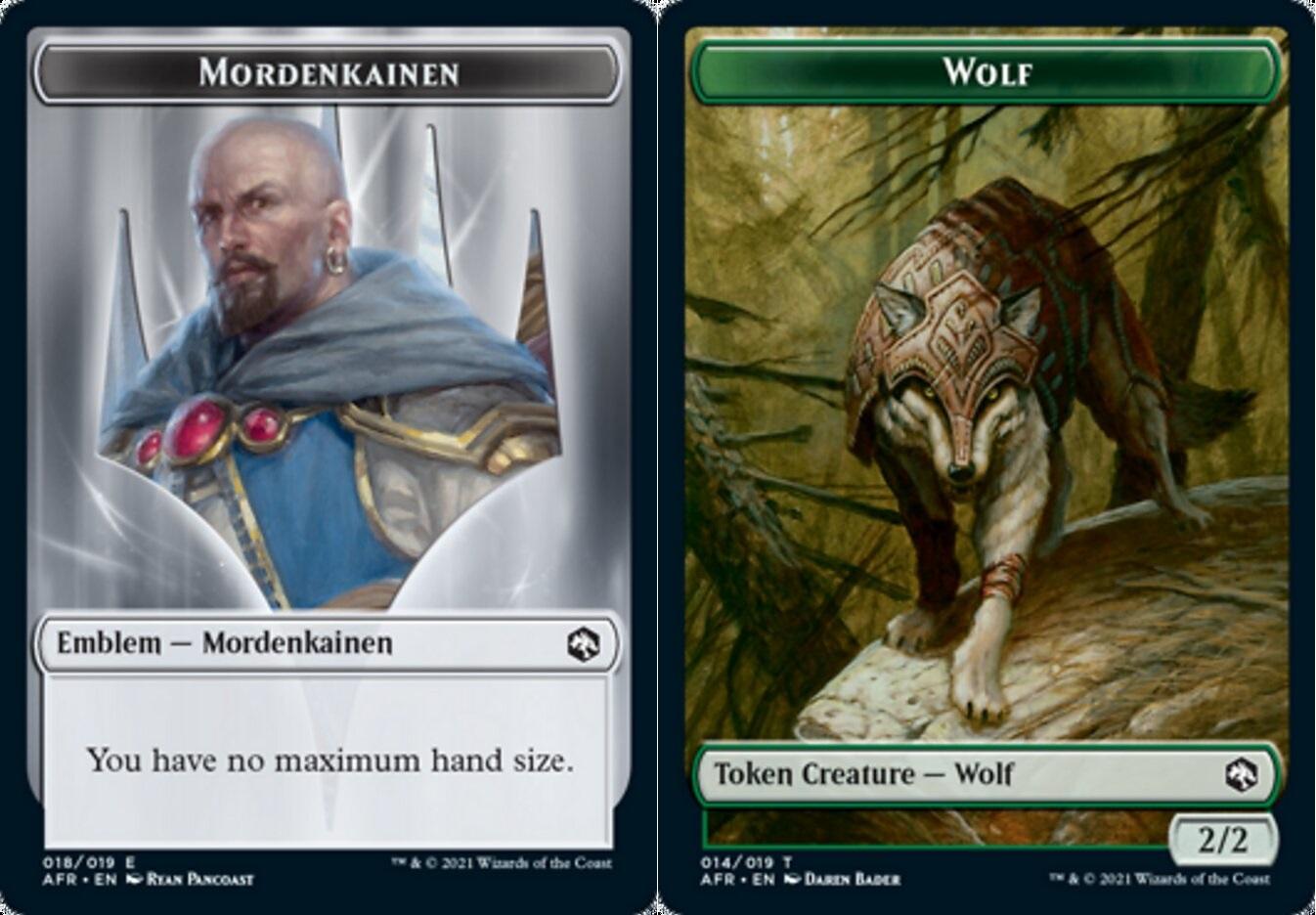 Token - Emblem - Mordenkainen // Wolf - Foil