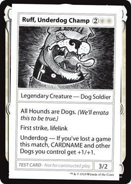 Ruff, Underdog Champ (No PW Symbol)