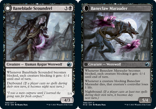Baneblade Scoundrel // Baneclaw Marauder