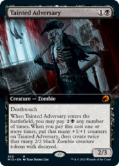 Tainted Adversary - Foil - Extended Art