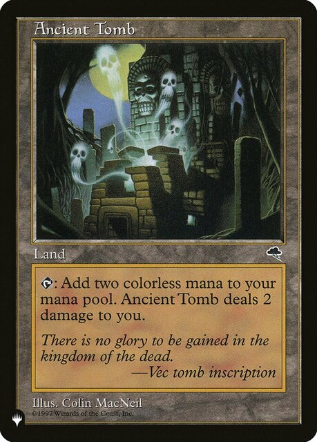 Ancient Tomb - The List